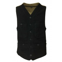 MANIFATTURA CECCARELLI black man gilet moda 7907 100% cotton MADE IN ITALY