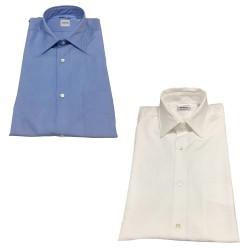 ASPESI shirt man mod SIXTEEN blue 100% cotton