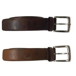 MANIERI belt man maltinta height 3 cm zamak buckle 100% leather MADE IN ITALY