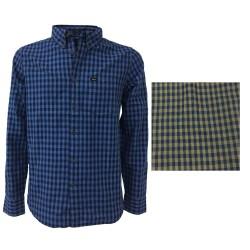 LEE 101 shirt man light blue/blue mod L882BQDK 100% cotton