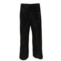 IL THE DELLE 5 woman trousers BLACK with sequins, side pockets mod NICK 22 100% polyester MADE IN ITALY