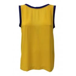 HANITA yellow woman top profiles bluette mod H.M1943.2791 MADE IN ITALY