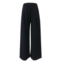 SEMICOUTURE blue elastic coated woman trousers mod S0/Y/Y0SL02