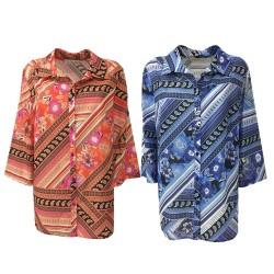 CORTE DEI GONZAGA GOLD woman shirt fantasy 3/4 sleeve mod 2001 1C 6540 C1219
