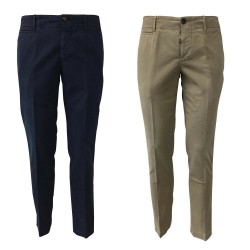 PIATTO man trousers mod CHINO-U DOUBLE COMFORT SATIN CT41 96% cotton 4% elastane MADE IN ITALY