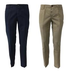 PIATTO pantalone uomo mod CHINO-U RASO DOPPIO CONFORT CT41 96% cotone 4% elastan MADE IN ITALY