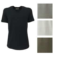 GIRELLI BRUNI t-shirt with short sleeves black mod G691 CO 100% cotton MADE IN ITALY
