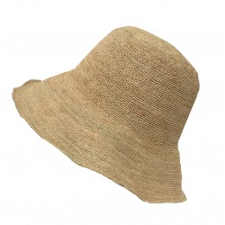 CM ACCESSORI natural woman hat mod CPT270 100% raffia MADE IN ITALY