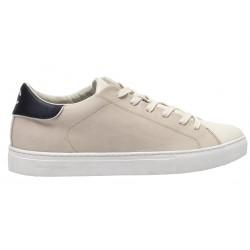 CRIME LONDON Men's sneakers in beige leather mod BEAT 11541PP2.15