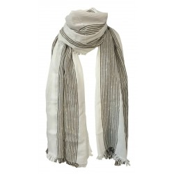 HUMILITY 1949 foulard donna écru/moro mod HB1190 MADE IN ITALY