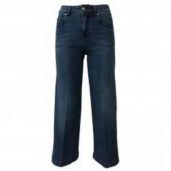 7.24 women's jeans with side applications mod. EVA PIC 80 MADE IN ITALY