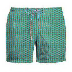 ZEYBRA Costume da bagno tartarughe hawaii HERITAGE AUB060 100% nylon MADE IN ITALY