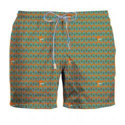 ZEYBRA Costume da bagno pinne arancione HERITAGE 100% nylon MADE IN ITALY AUB056