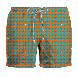 ZEYBRA Orange fin swimwear HERITAGE 100% nylon MADE IN ITALY AUB056