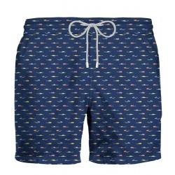 ZEYBRA Costume da bagno uomo nuoto blu 100% poliestere MADE IN ITALY AUB036