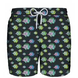 ZEYBRA Black fluo fish swimwear 100% polyester MADE IN ITALY AUB927