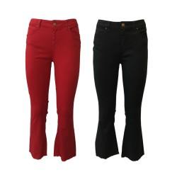 ATELIER CIGALA'S jeans donna leggero trombetta 17-173-O FIVE POCKETS CROP MADE IN ITALY