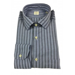 MGF 965 man shirt long sleeve with pocket light blue blue lines mod 10.TG.L 901322