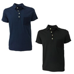 MOLO ELEVEN men's half sleeve polo shirt with pocket in fabric mod TAKUMA T0002 PPT MADE IN ITALY