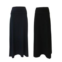 NEIRAMI gonna donna jersey con fascia elastica in vita mod B20-18 JERSEY svasata MADE IN ITALY