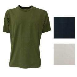 BottegaChilometriZero man t-shirt half sleeve round neck mod DU20034 NO PRINT MADE IN ITALY