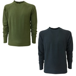 BottegaChilometriZero men's light brushed sweatshirt crewneck mod DU20029 MADE IN ITALY