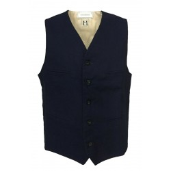 MOLO ELEVEN blue man vest mod ARTIE 100% cotton MADE IN ITALY