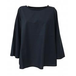 LABO.ART camicia donna manica lunga blu mod BOF SUSHI 100% cotone MADE IN ITALY