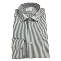 BRANCACCIO men's shirt white / gray stripes SG00B0 SLIM GIO 'KS81402