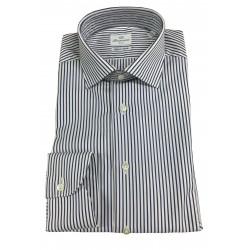 BRANCACCIO men's shirt white / blue stripes SG00B0 SLIM GIO' KS81303