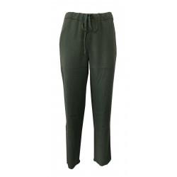 HUMILITY 1949 pantalone donna verde elastico in vita e laccio HA8006 MADE IN ITALY