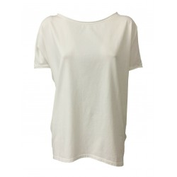 NEIRAMI white half sleeve t-shirt woman mod B01-20 JERSEY MADE IN ITALY