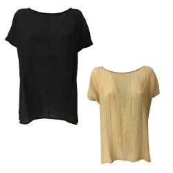 NEIRAMI woman blouse dropped sleeve mod TS1180 POLCA MADE IN ITALY