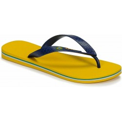 IPANEMA Men's flip flops Classic Brasil II AD 80415 MADE IN BRAZIL Yellow/Blue