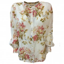 SEMICOUTURE Blouse woman over long sleeve flowers mod S0 / Y / Y0SI03