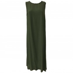 ETiCi Green sleeveless woman dress art A2 / 1450 MADE IN ITALY