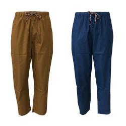 BottegaChilometriZero pantalone uomo fantasia con elastico e laccio mod DU20039 MADE IN ITALY