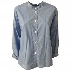 TELA camicia donna collo coreano over mod NAIF/POP 100% cotone MADE IN ITALY