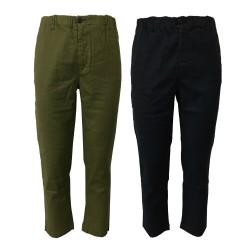 BottegaChilometriZero pantalone uomo con elastico e laccio interno DU20009 RAINER