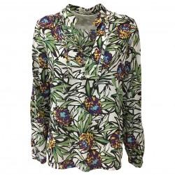 NUMERO PRIMO camicia donna scollo a V mod EN505H 100% cotone MADE IN ITALY