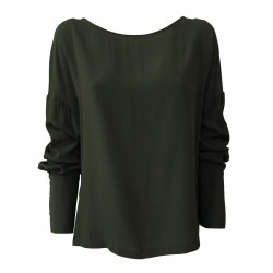 LIVIANA CONTI green long sleeve woman blouse mod CNTS07 MADE IN ITALY