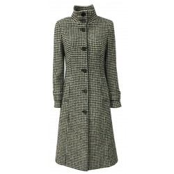 PENNYBLACK DALBURNO white patterned pied de poule coat in alpaca wool blend
