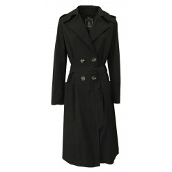 HANITA woman black trench coat unlined double-breasted art H.K816.2792 MADE IN ITALY