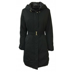 PENNYBLACK down jacket woman 3/4 black fixed hood mod OCEANICO