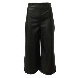 RUE BISQUIT black faux leather cropped woman trousers art RW4070 CROP CUBA MADE IN ITALY