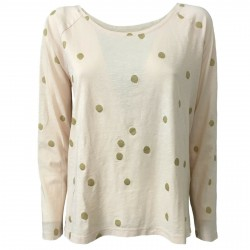 DES PETITS HAUTS Woman t-shirt with polka dots patches on the elbows mod RISALI 100% cotton