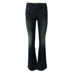 REIGN flared jeans woman dark denim with front fading art 29012452 MOD PENELOPE PARIS MADE IN ITALY