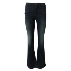 REIGN jeans donna a zampa denim scuro con scoloriture davanti art 29012452 MOD PENELOPE PARIS MADE IN ITALY