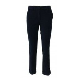 7.24 blue striped velvet woman trousers mod SUSANNA MADE IN ITALY