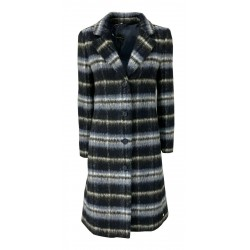 PENNYBLACK Lined coat with navy blue patterned check mod. LICENZA